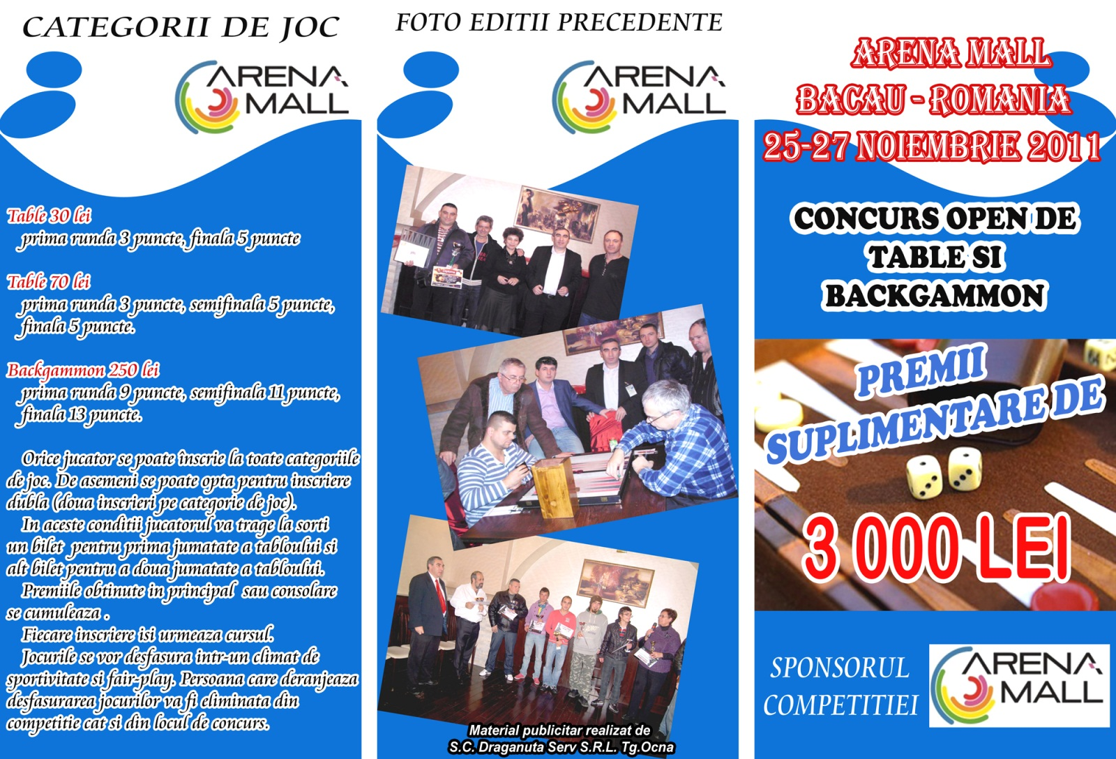 CONCURS OPEN DE TABLE SI BACKGAMMON Bacau